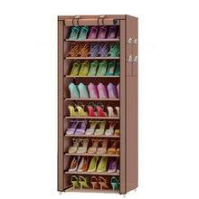 9 Ярусов простой многофункциональный шкаф для хранения обуви полки для обуви оксфордская стойка для хранения тканевый табурет для обуви мебель для спальни