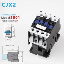 цена на 1PCS CJX2-1801 LC1 AC Contactor 18A 3 Phase 3-Pole NC Coil Voltage 380V 220V 110V 36V 24V 50/60Hz Din Rail Mounted 3P+1NC