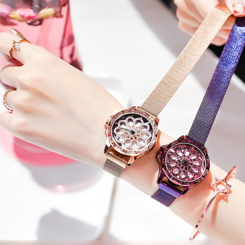 Time To Run Watch Ms. Mesh With Magnetic Quartz Watch