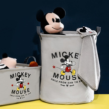 Bucket-Basket Storage-Tools Mickey Cloth-Box Foldable Polyester Mouse Cartoon Cute Donald