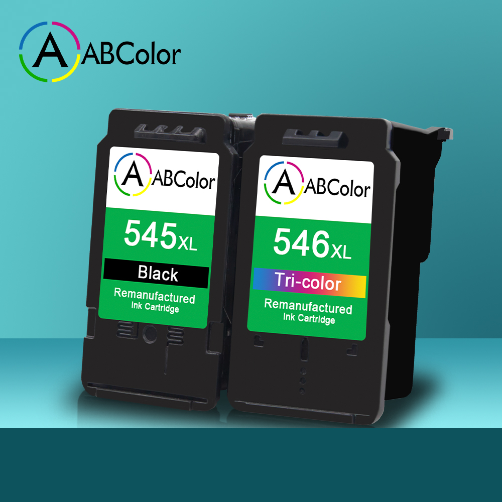 A ABCOLOR Ink Cartridge Compatible For Canon PG545 CL546 Ink Cartridge Pixma Ip2850 MG2450 MG2550 MG2950 MG3050 TS205 TS305