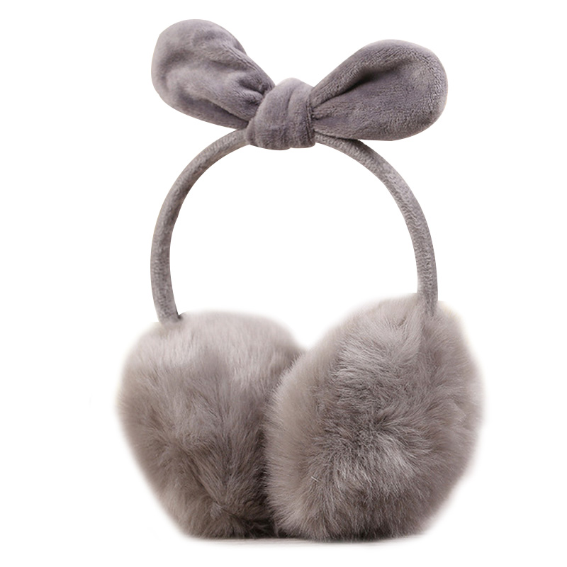 Rabbit Ears Fur Winter Earmuffs Ear Muffs Warmers Winter Comfort Warmuffs Warm Fur Headphones For Women Girls Winter Accessories
