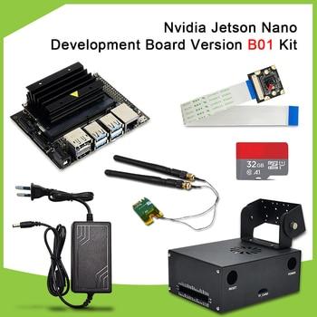 New version Nvidia Jetson Nano Developer Kit B01 AI Development Board +AI camera+EU DC power supply+TF card+case - discount item  21% OFF Demo Board & Accessories