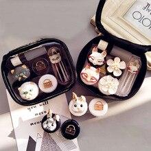 Lovely Handmade Contact Lens Case Set With Mirror Travel Len
