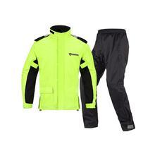 1 set of waterproof breathable cycling suit slim mens outdoor riding hiking reflective split raincoat rain pants