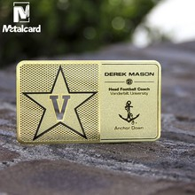 Hollow stainless steel business card plating gold business card custom business card design
