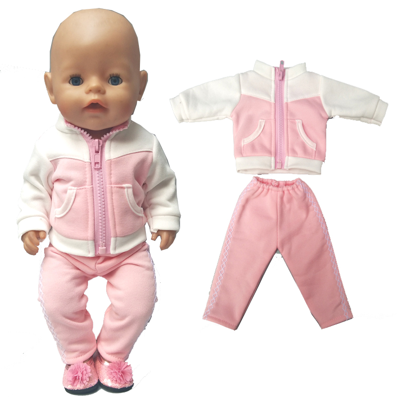 """Doll clothes for 43cm baby dolls jacket clothes for 17"""" 43cm baby reborn doll down coat children doll toys wear(China)"""