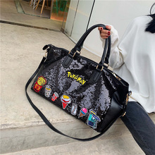 New fashion sequins in Europe and America, handbag, large-capacity outdoor traveling diagonal bag in 2019 fashion and armour in rennaissance europe