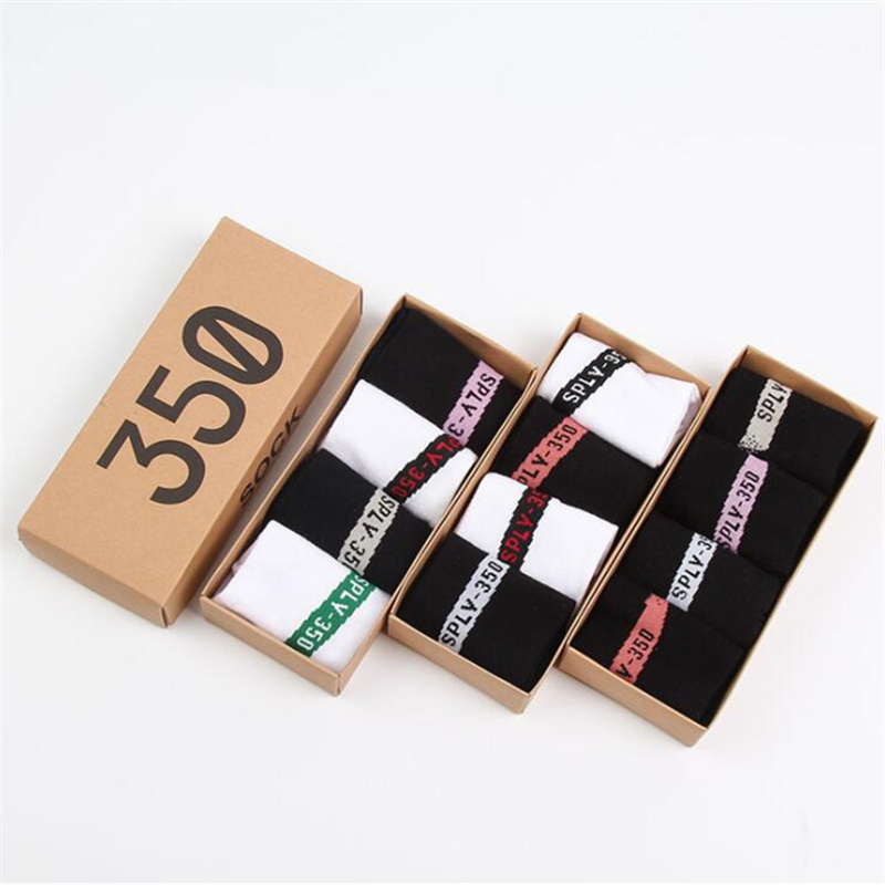 New Summer Women 350 Style Socks Sweat Breathable Sock High Quality Cotton Shallow Mouth Girl Socks Boxed 4 Pairs/box