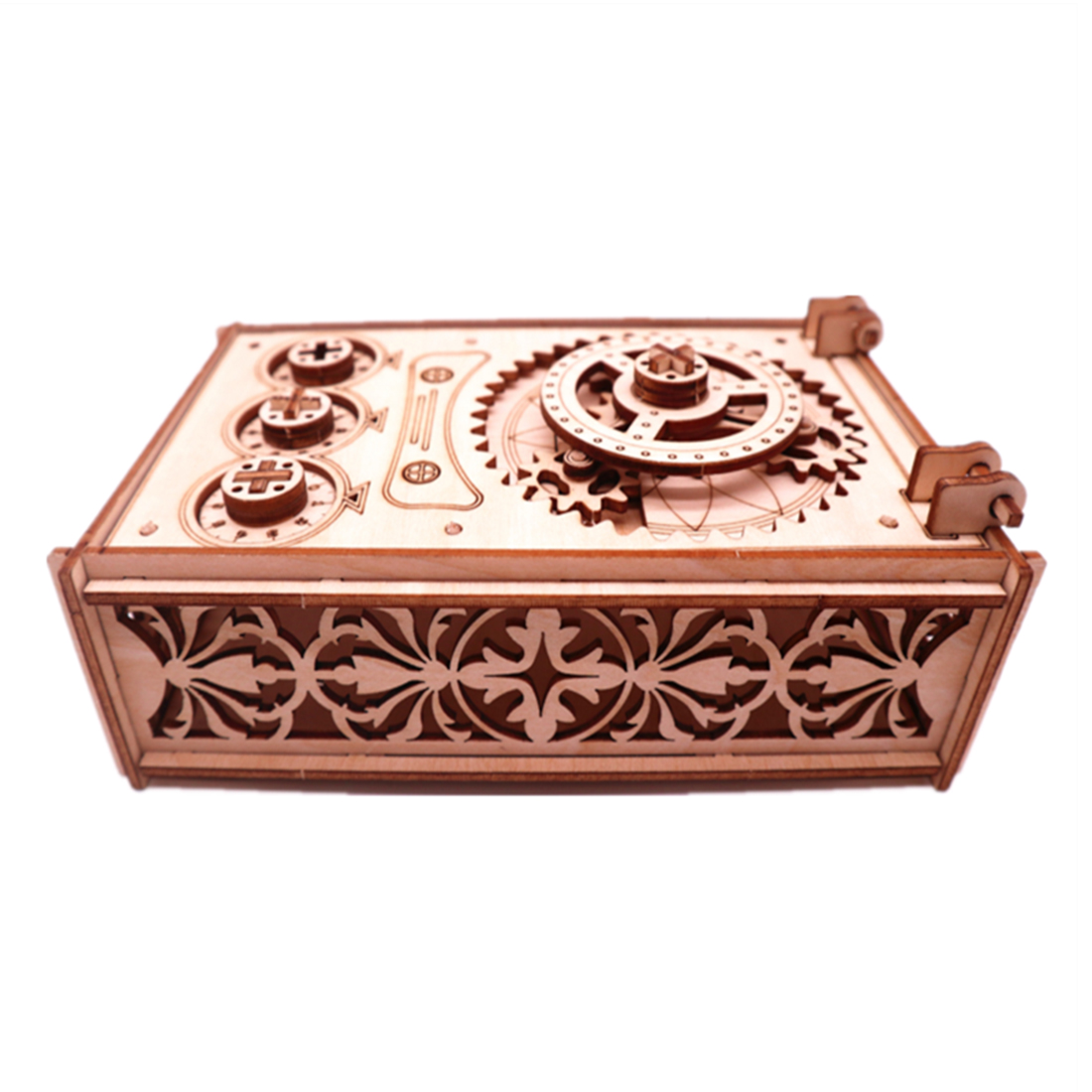 3D Organ Password Treasure Box Wooden Mechanical Puzzles DIY Assembly Model Block Assembly Toys