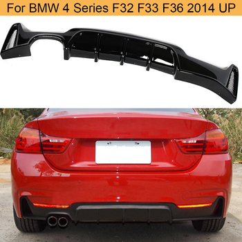 Gloss Black Car Rear Bumper Diffuser Spoiler for BMW 4 Series F32 F33 F36 418i 420i 428i 430i 435i 440i 2014 UP Rear Diffuser image