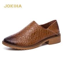 2020 עור אמיתי אוקספורד נעלי אישה עקב נמוך ופרס נעלי נשים גבירותיי עסקים נעליים יומיומיות מברשת מבטא אופנה נעליים