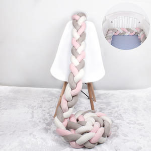 Crib-Protector Bed-Bumper Knot Pillow Room-Decor Braid-Knot Knotted Handmade Plush Infant