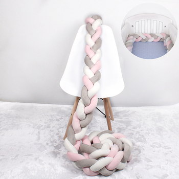 1M/2M/3M /4M Baby Bed Bumper Braid Knot Long Handmade Knotted Weaving Plush Baby Crib Protector Infant Knot Pillow Room Decor