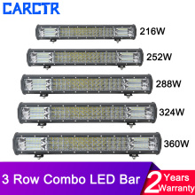 цена на 3 Row Led Light Bar Combo Beam 5 15 20 25 32  12V 24V Work Light Offroad LED Bar for Car Truck 4x4 SUV ATV Boat Headlights