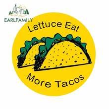 EARLFAMILY 13cm x 13cm For Lettuce Eat More Car Sticker