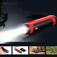 Outdoor multifunctional emergency distress rescue hand cranked strong light flashlight adventure travel camping necessary