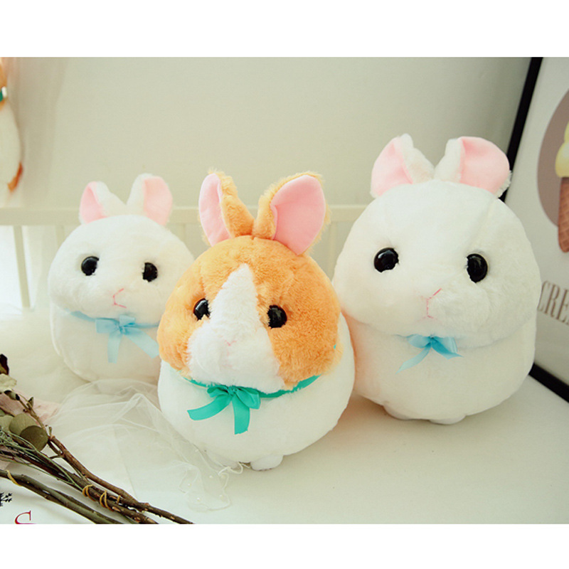 Japanese-style Soft Adorable <font><b>Plush</b></font> Rabbit Doll Chubby Rabbit Doll Home Decoration <font><b>Snowball</b></font> Bugs Bunny Pillow image
