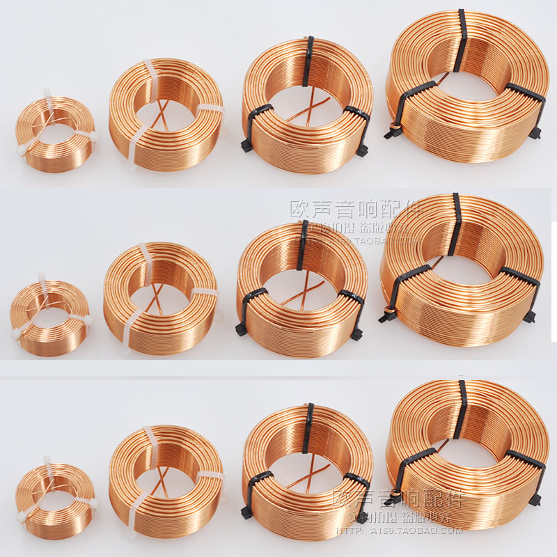 0.8mm Speaker Frequency Divider Copper Coil Oxygen-free Copper High Purity Hollow Inductor HIFI Sound Accessories
