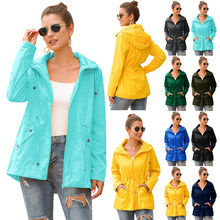 Raincoat Women Plus Size Waterproof Tour Rain Coat Outdoor Overalls Waterproof Womens Raincoat Coat Impermeable Cove LSY02(China)