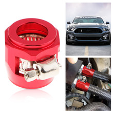 Aluminum Auto Car AN10 Hose End Finisher Fuel Oil Water Line Clip Clamp Red(China)