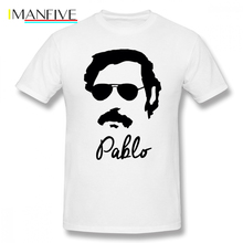 Narcos T Shirt Pablo Escobar Sunglasses T-Shirt Short-Sleeve Men Tee Awesome Printed Oversized Cotton Streetwear Tshirt