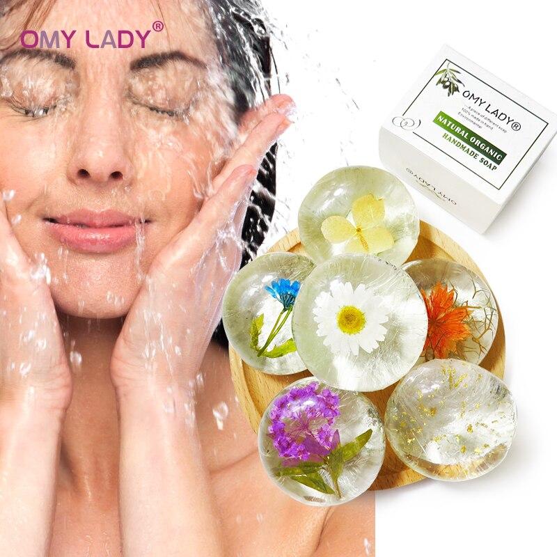 OMY LADY Amino Acid Handmade Soap 100% Pure Natural Plant Soap For Face Hand Body Bath Flower Soap Nourish Skin Anti-allergy