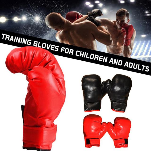 Professional Boxing Gloves PU Leather Liner Sponge R Flame Gloves Sanda Training Glove Fitness Boxing Gloves For Adults Kids 1
