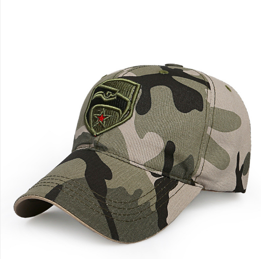 Men Summer Army Caps Adjustable Spring Baseball Fashion Classic Cotton Flat Top Military Hat Outdoor Sunproof Casual image