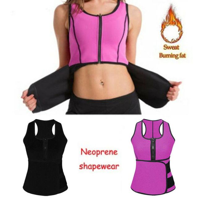 Lady Sauna Waist Trainer Vest Adjustable Slimming Sweat Belt Body Shaper Workout Trimmer Trainer Belt Fitness Shapewear 2