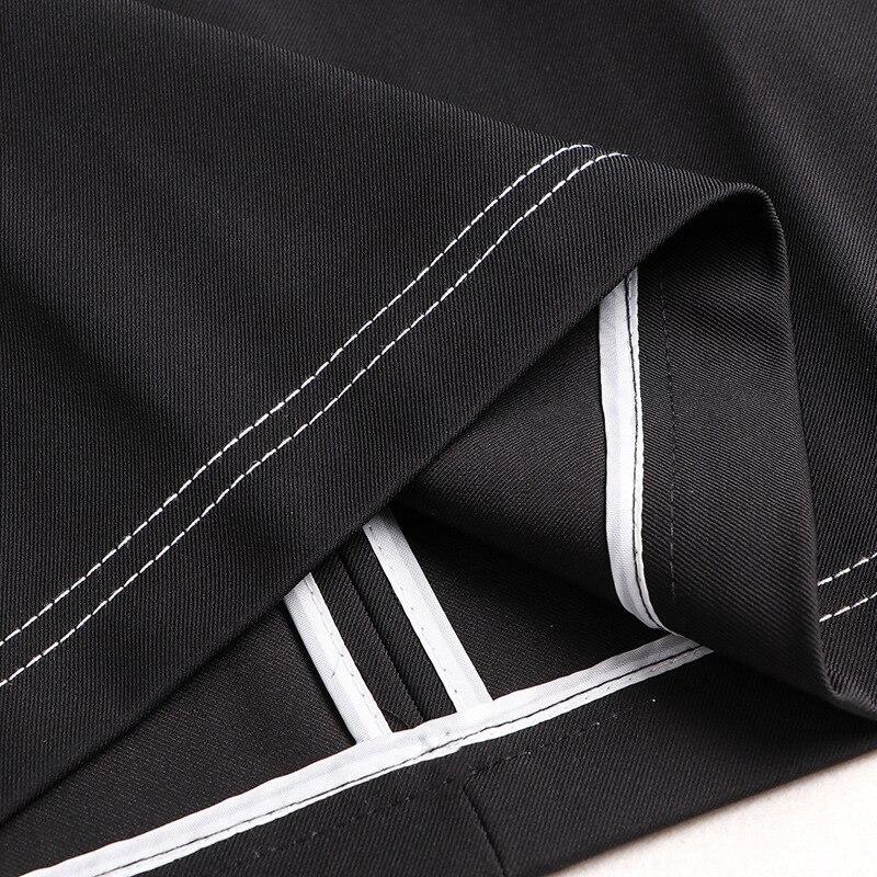 Women Dress Set 2020 Spring New Fashion Turndown collar Long sleeve Shirt + Black Vest Dress Two piece Set - 5