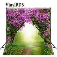 Vinylbds 5x7ft fundo de casamento ao ar livre flores roxas primavera foto multi tamanho reable fundo bela fotografia pano photography cloth wedding background backgrounds purple -