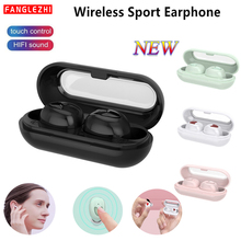 цена на Tws 2019 In Ear Earphones Bluetooth 5.0 Wireless Mini Earbuds Sport Handsfree HIFI Bass Stereo Earphone With Mic For Smart Phone