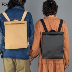 [BXX] 2020 Washable Kraft Paper Female Backpack Women School Bag High Quality Backpack Multipurpose Business Computer Bag HE170