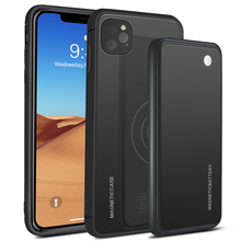 For iPhone 11 11 Pro 11 Pro Max Case 5000mAh 2 In 1 Gradient Magnetic PowerBank Wireless Charger Case For iPhone 11 Battery Case