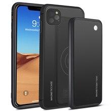 Voor Iphone 11 11 Pro 11 Pro Max Case 5000 Mah 2 In 1 Gradiënt Magnetische Powerbank Draadloze Oplader Case voor Iphone 11 Batterij Case