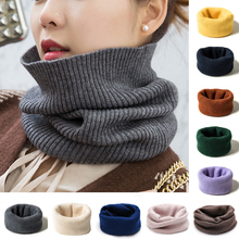 1PC Cashmere Scarves Autumn and Winter Warm Soft Elastic Fake High Collar Unisex Multifuntional Knitting Neck Protection Bib
