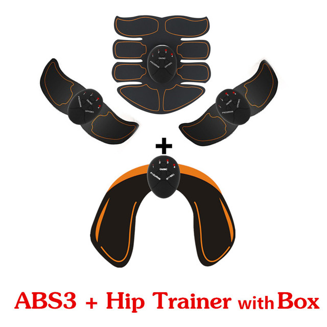 Abdominal machine electric muscle stimulator ABS ems Trainer fitness Weight loss Body slimming Massage with soft retail box 3