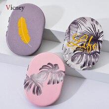 Vicney 2019 Neue Kreative Mini Oval Make Up Spiegel Kompakte Tasche Spiegel Doppelseitige Mode Klassische Tragbare Make Up Spiegel