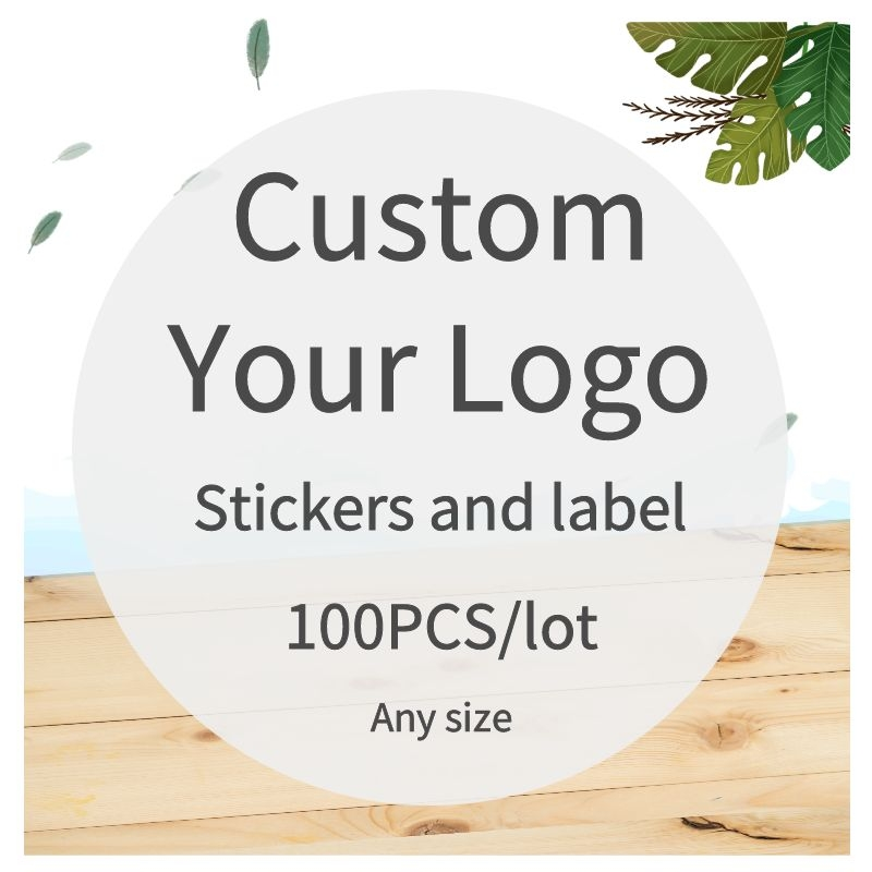 100PCS custom sticker and Customized LOGO/Wedding stickers/Design Your Own Stickers/Personalized stickers Food & Beverage Labels