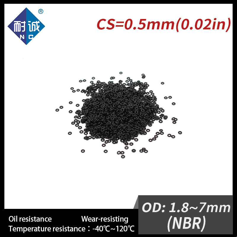 10PCS/lot Rubber Black NBR CS 0.5mm OD1.8/2.5/2.8/3/3.5/4/4.5/5/<font><b>7mm</b></font> <font><b>O</b></font> <font><b>Ring</b></font> Gasket Oil resistant waterproof Nitrile rubber oring image