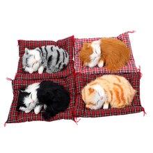 Симпатичное моделирование спящих кошек украшение приборной панели милые плюшевые котята кукла игрушка автомобиль украшения автомобиль-Стайлинг Аксессуары для интерьера