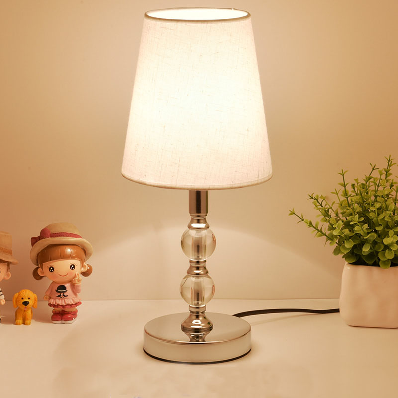 คริสตัลโคมไฟ LED โคมไฟข้างเตียง Nordic โคมไฟตั้งโต๊ะห้องนอนห้องนั่งเล่น Study Book Light Vanity ตาราง E27 EU Plug