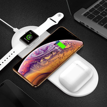 3 In 1 Wireless Charger Station For iPhone X XS MAX XR Qi Fast Charge Charging Pad Apple Watch Airpods Stand