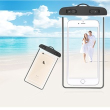 Fluorescence Waterproof Phone Bag Transparent Touch Screen Arm Outdoor Swimming Diving Cover
