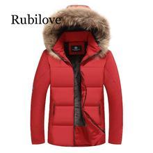 Rubilove 2019 Winter Hooded Coat Men Thick Warm Mens Jacket Fathers Parka Plus Asian Size L-7XL 8XL 9XL