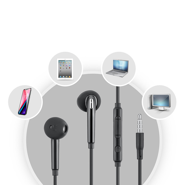 Wired Earphones 3.5mm Stereo No bluetooth Headphone  Music Sport Headset with Microphone for Samsung Xiaomi Mi 9 Huawei Hot Sale 4