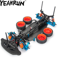 YEAHRUN Alloy & Carbon Frame Body Wheels Kit For RC 1/10 Drift Racing Car Shaft Drive