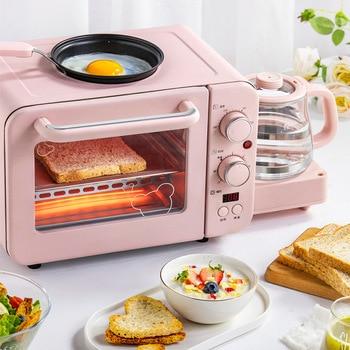 Multifunctional Toaster Oven Breakfast Machine Coffee Machine Egg Cooking Pan Three-in-One Breakfast Machine DSL-C02B1 цена 2017