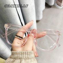 CRIXALIS-gafas cuadradas transparentes para miopía 1,00 To-6,00, anteojos de gran tamaño decorativos para ordenador con luz azul